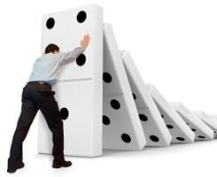 pushing dominos