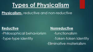 types of physicalism